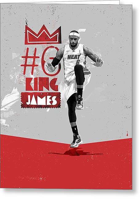 King Of Basketball Greeting Card by Jeric Barnutz