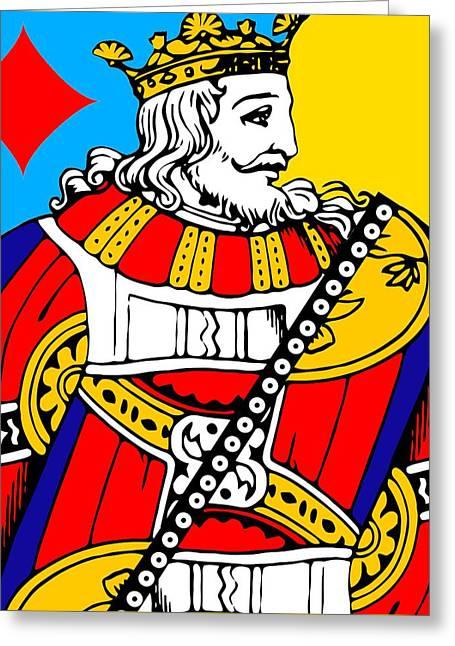King Of Diamonds Large Greeting Card