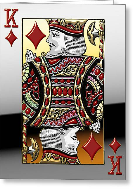 King Of Diamonds   Greeting Card