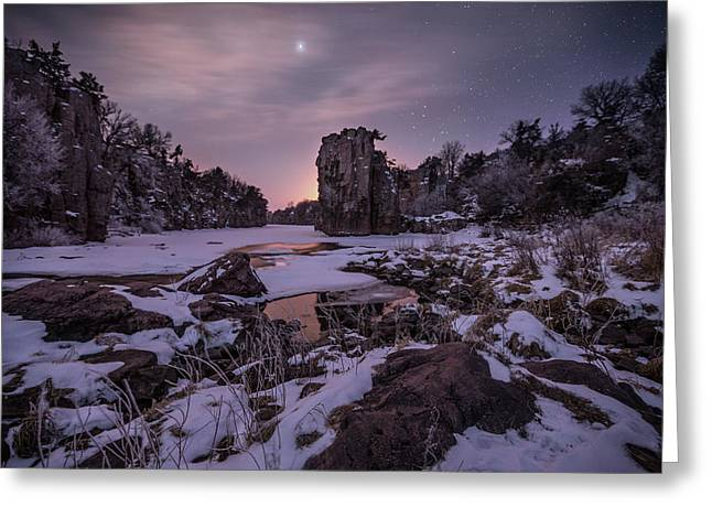 King Of Frost Greeting Card by Aaron J Groen