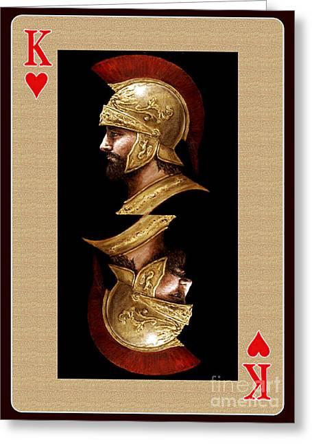 King Of Hearts Greeting Card