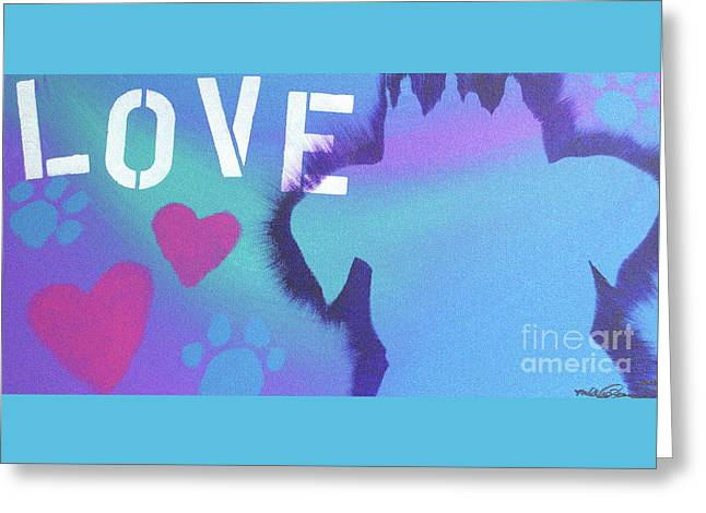 Greeting Card featuring the painting King Of My Heart by Melissa Goodrich
