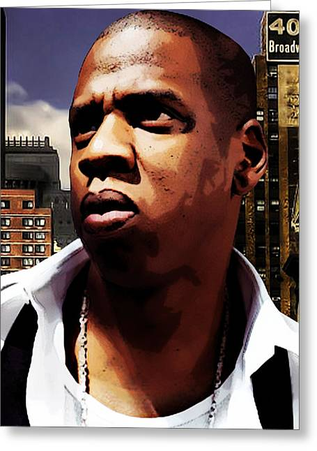 Jay Z Greeting Cards - King of New York Greeting Card by The DigArtisT