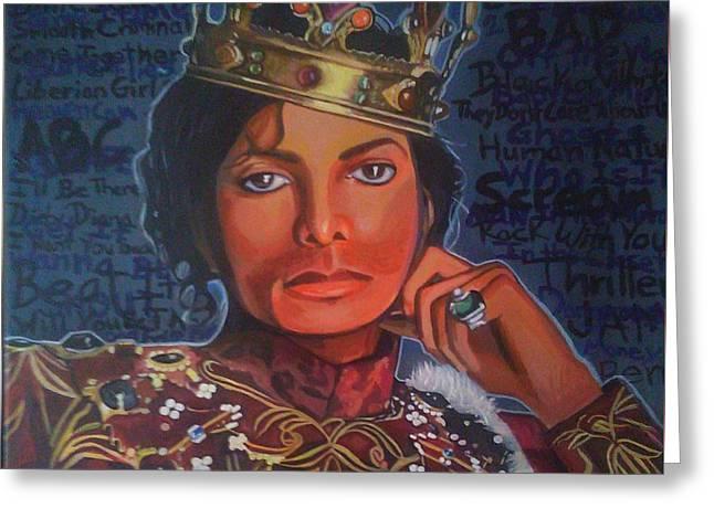 King Of Pop Greeting Card by Jason Majiq Holmes