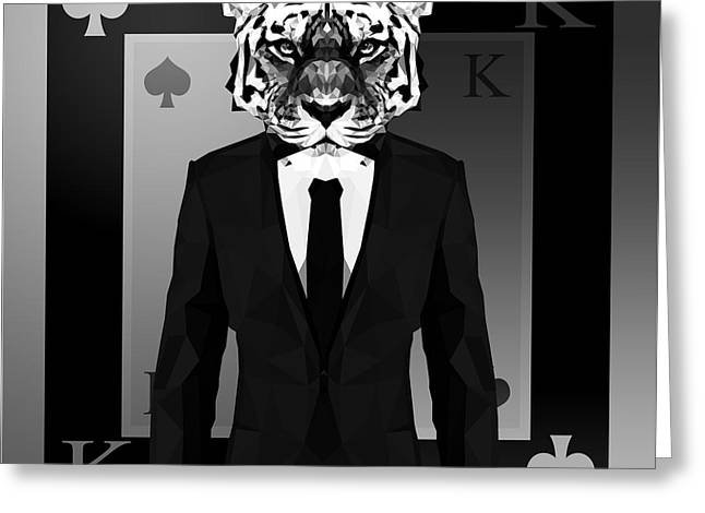 King Of Spades 2 Greeting Card by Gallini Design