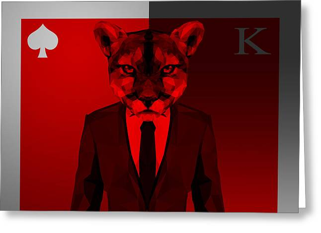 King Of Spades 3 Greeting Card