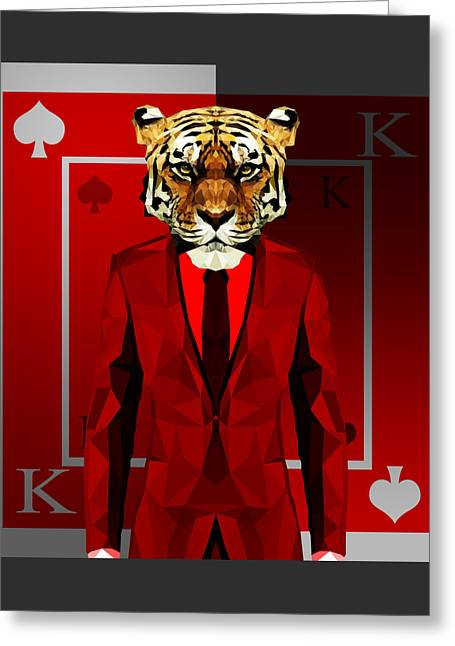 King Of Spades Greeting Card by Gallini Design