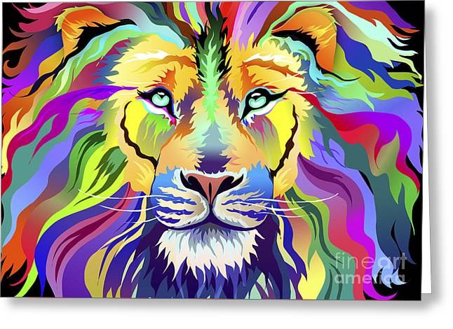 King Of Techinicolor Variant 1 Greeting Card