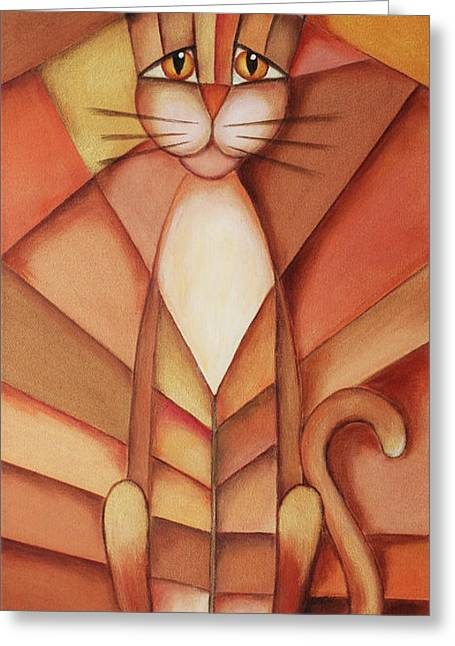 King Of The Cats Greeting Card