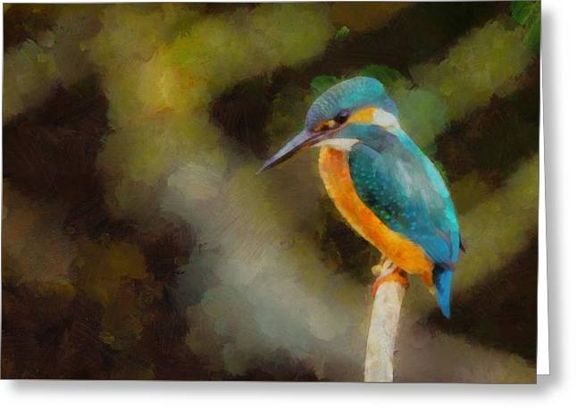 King Of The Fishers By Pierre Blanchard Greeting Card