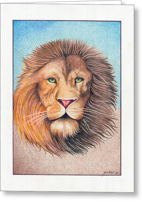 King Of The Jungle Greeting Card by Julian  B