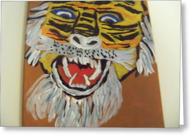 King Of The Jungle Greeting Card by Rhonda Jackson