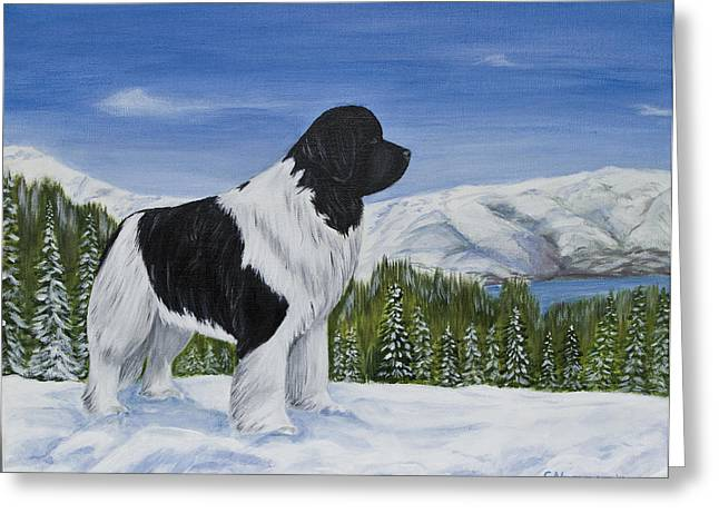 King Of The Mountain Greeting Card by Sharon Nummer
