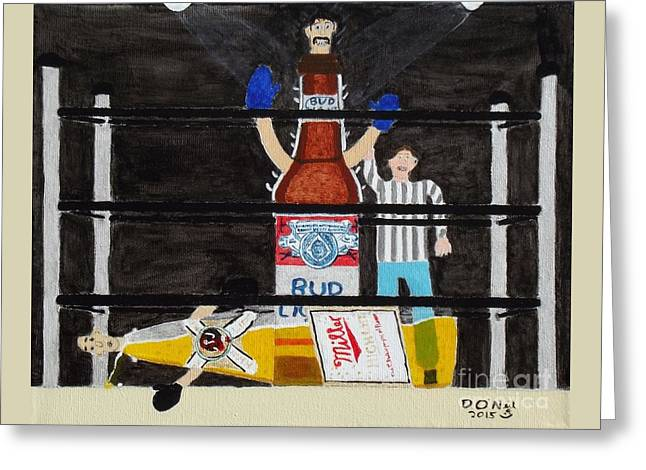 King Of The Ring Greeting Card by Dennis ONeil