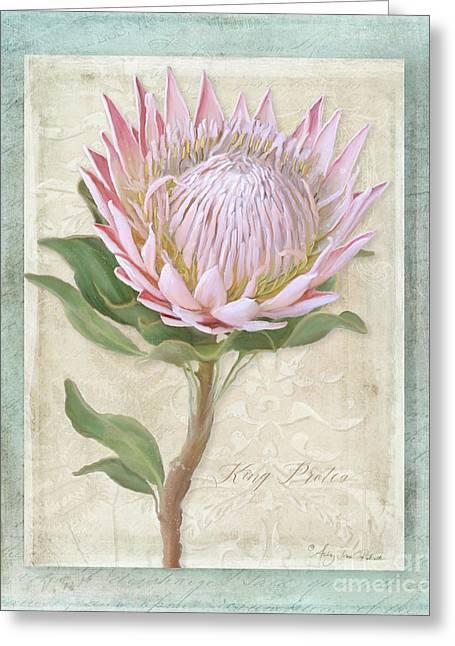 King Protea Blossom - Vintage Style Botanical Floral 1 Greeting Card