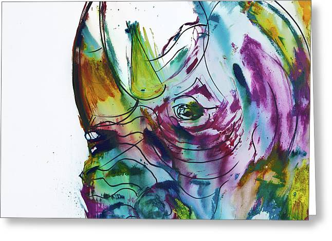 King Rhino Greeting Card