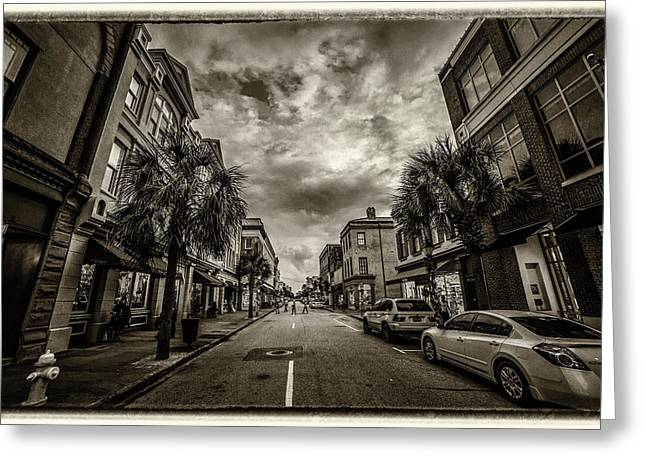 King St. Storm Clouds Charleston Sc Greeting Card
