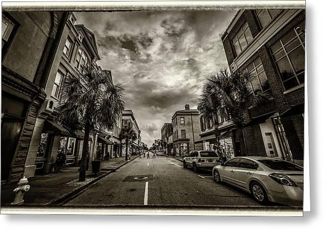 King St. Storm Clouds Charleston Sc Greeting Card