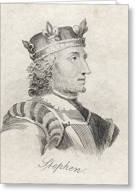 King Stephen Of England Also Stephen Of Greeting Card by Vintage Design Pics