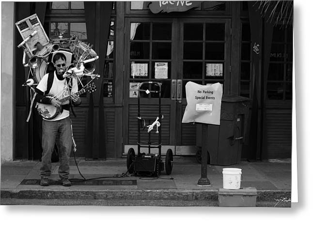 King Street Musician  Greeting Card
