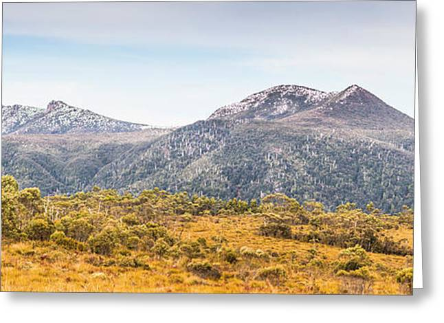 King William Range. Australia Mountain Panorama Greeting Card by Jorgo Photography - Wall Art Gallery