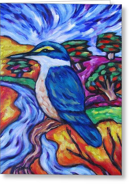 Kingfisher By The River 1 Greeting Card
