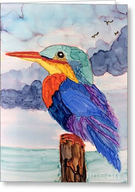 Kingfisher On Post Greeting Card