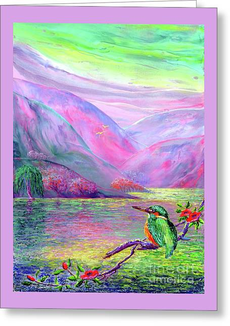 Kingfisher, Shimmering Streams Greeting Card