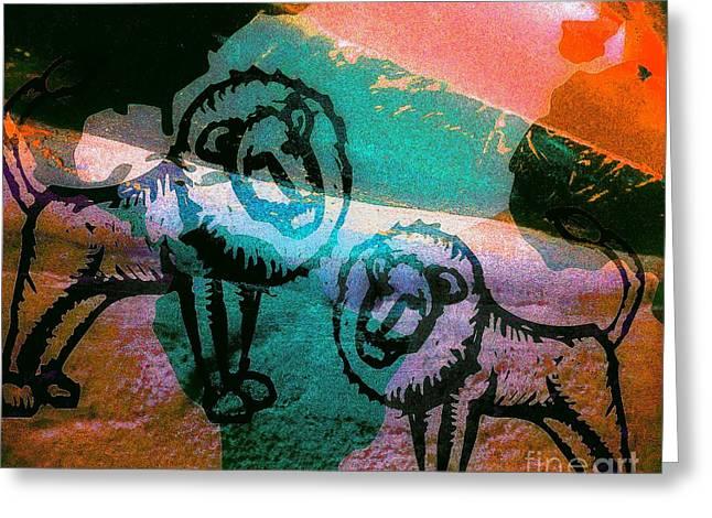 Kings And Kings - Tribe Of Judah Greeting Card by Fania Simon