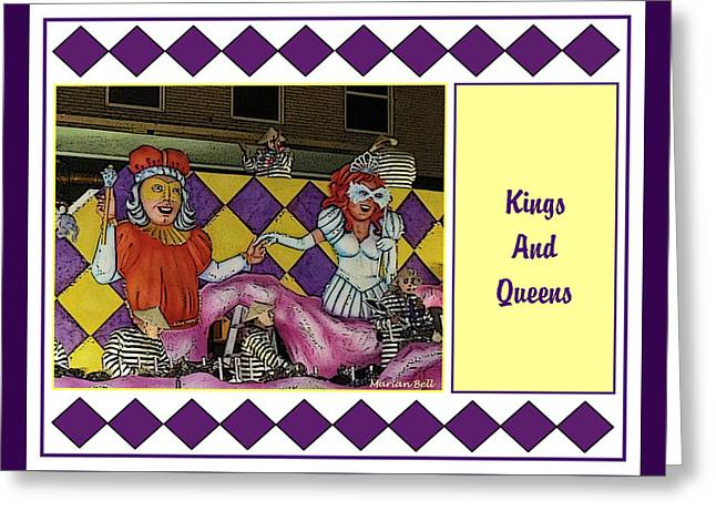 Kings And Queens Float Poster Greeting Card by Marian Bell