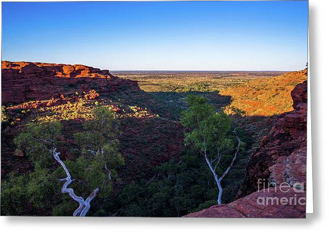 Kings Canyon Panorama Greeting Card by Andrew Michael