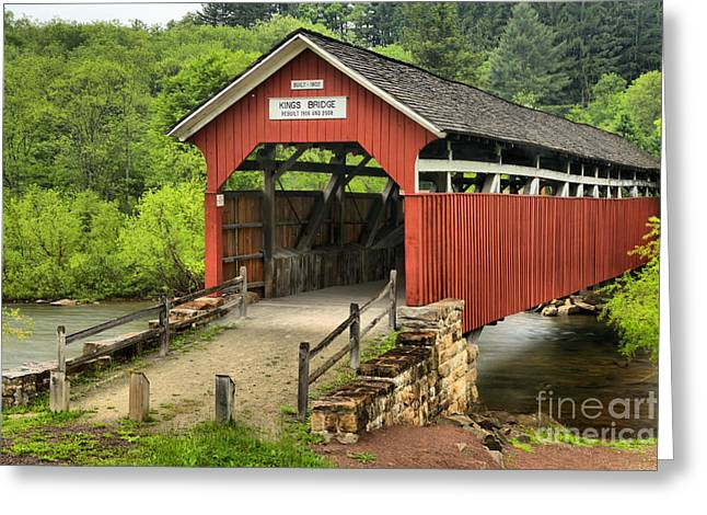 Kings Covered Bridge Somerset Pa Greeting Card