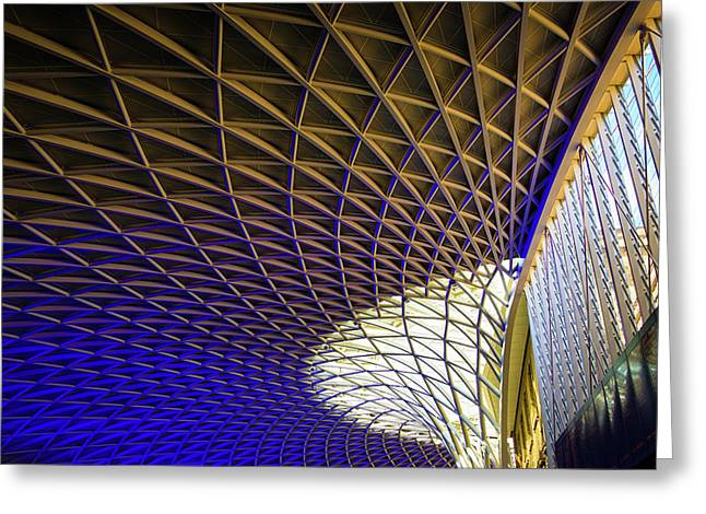 Kings Cross Railway Station Roof Greeting Card