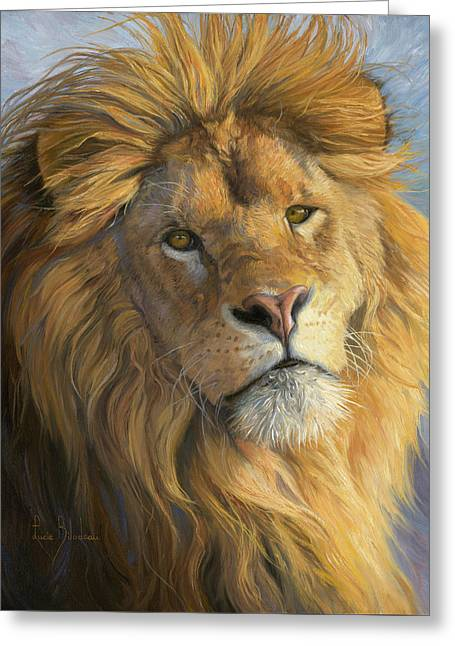 King's Gaze Greeting Card by Lucie Bilodeau