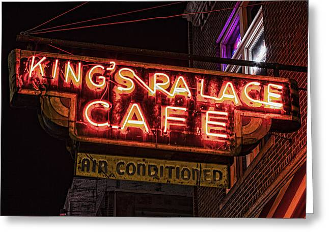 Kings Palace Cafe Greeting Card by Stephen Stookey