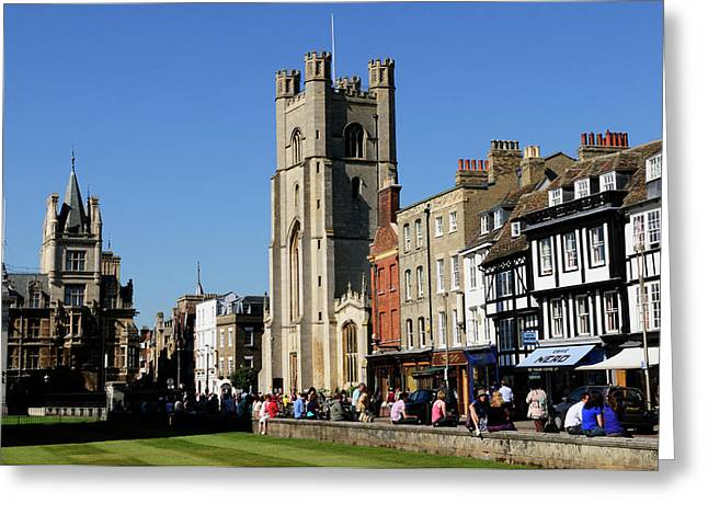 Kings Parade And Great St Marys Church Greeting Card by Liz Pinchen
