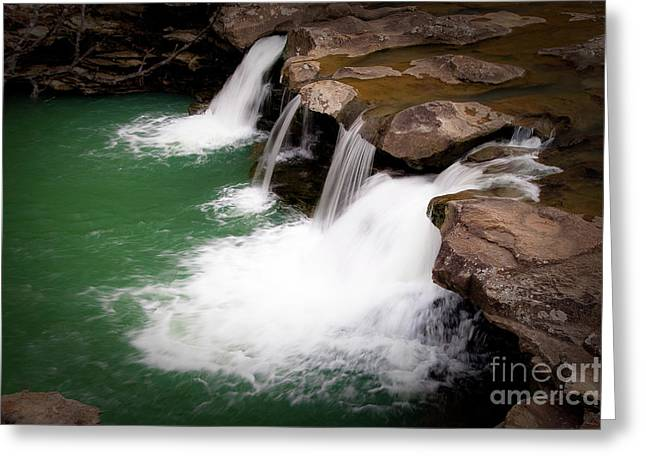 Kings River Falls Greeting Card by Tamyra Ayles