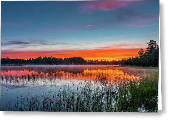 Kingston Lake Sunset Greeting Card