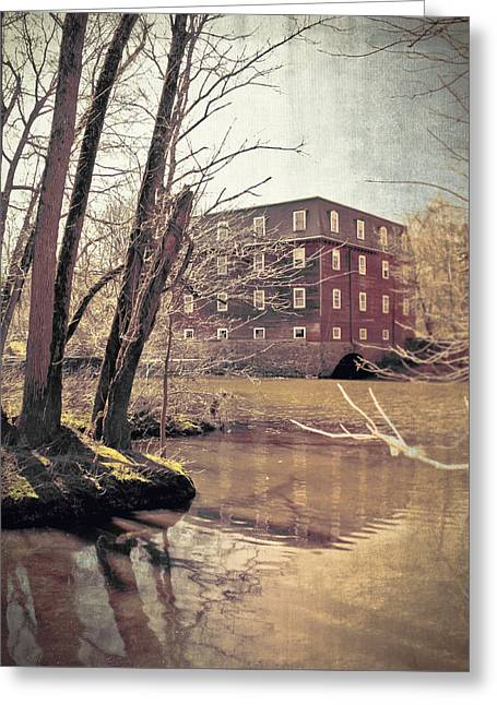 Kingston Mill Across The River Greeting Card by Colleen Kammerer