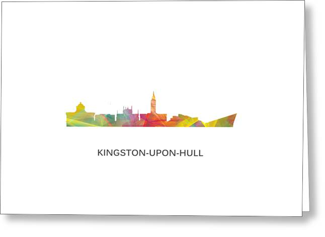 Kingston Upon Hull England Skyline Greeting Card