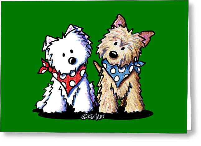 Kiniart Butch And Sundance Greeting Card