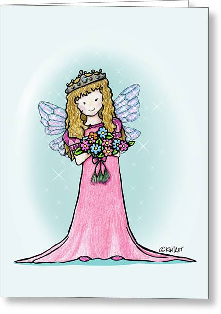 Kiniart Faerie Princess Greeting Card