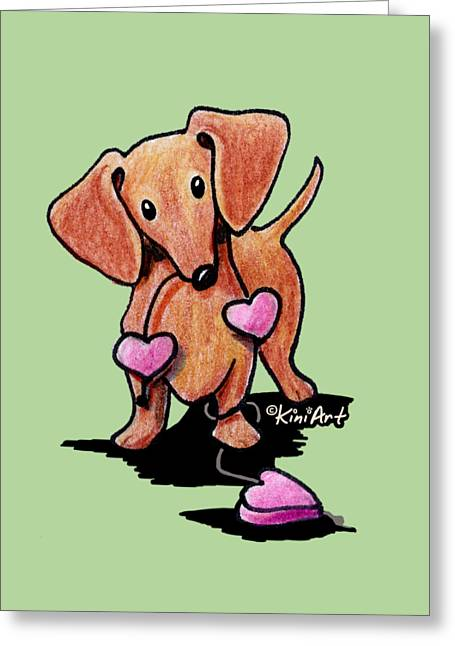 Kiniart Heartstrings Doxie Greeting Card