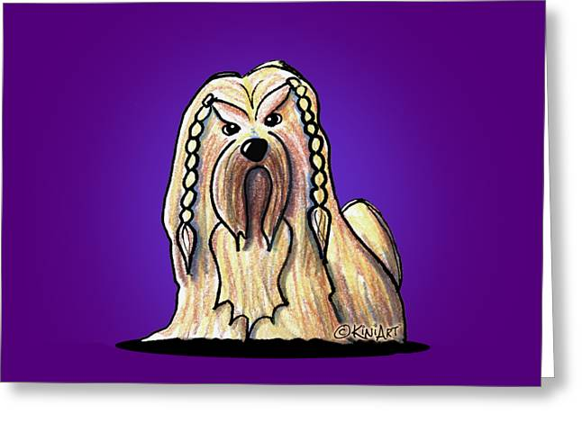 Kiniart Lhasa Apso Braided Greeting Card