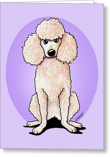 Kiniart Poodle Greeting Card by Kim Niles