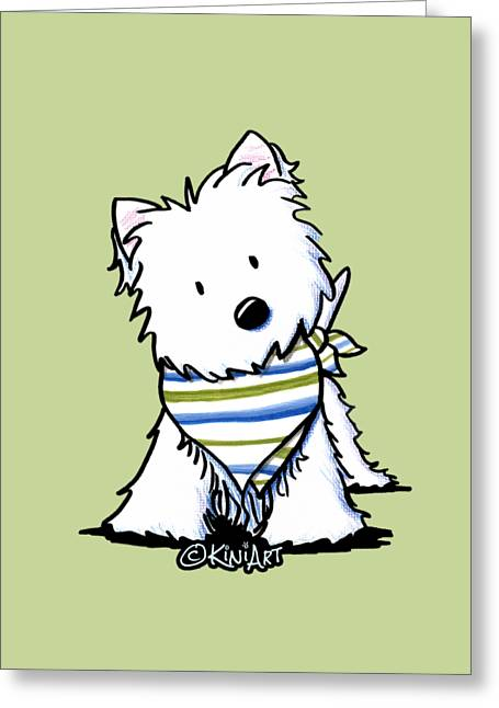 Kiniart Westie Terrier Greeting Card