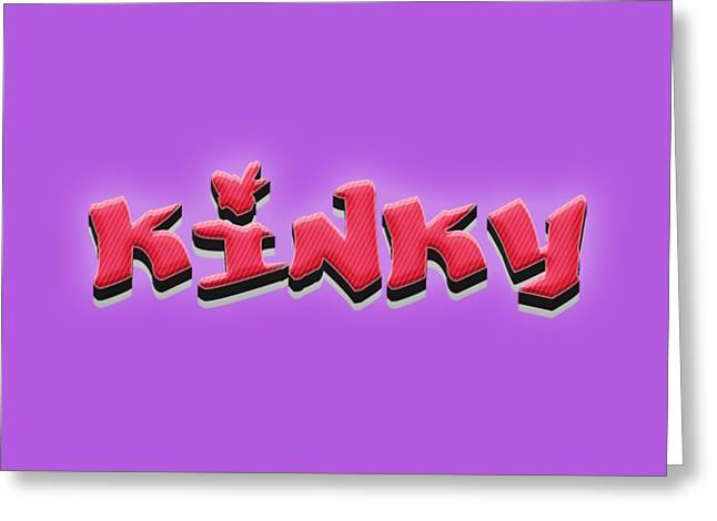 Kinky Tee Greeting Card by Edward Fielding