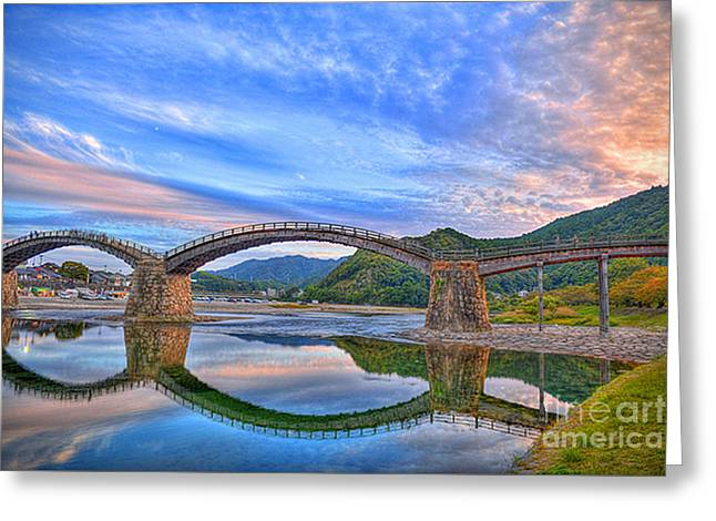 Kintai Bridge Japan Greeting Card