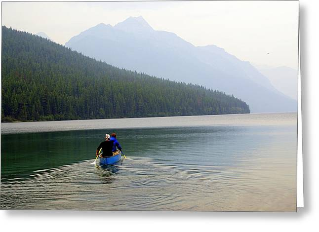 Kintla Lake Paddlers Greeting Card