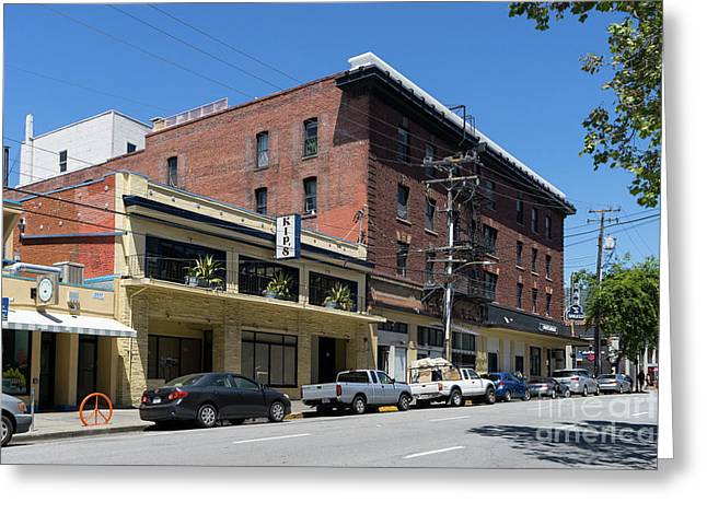 Kips Pizza Restaurant On Durant Avenue Off Telegraph Avenue In Berkeley California Dsc6233 Greeting Card